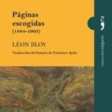 Libros: PÁGINAS ESCOGIDAS (1884-1905). Lote 191868648