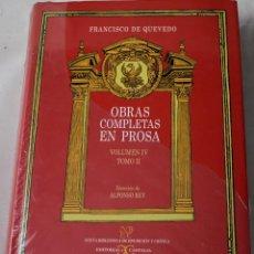 Libros: OBRAS COMPLETAS EN PROSA, TOMO II. FRANCISCO DE QUEVEDO.. Lote 194331140