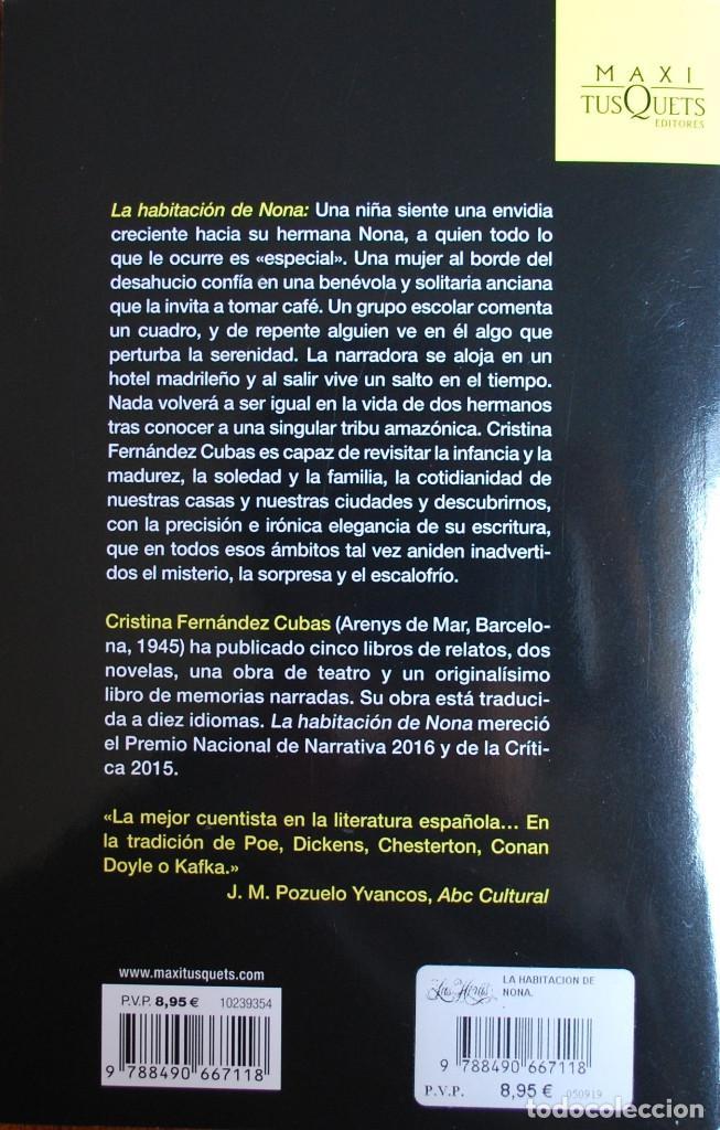 Libros: La habitación de Nona (Cristina Fernández Cubas) (ver foto adicional) - Foto 2 - 198460161