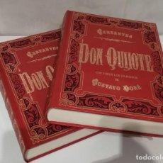 Libros: QUIJOTE TOMOS I Y II CON ILUSTRACIONES DE GUSTAVO DORE. Lote 207038583