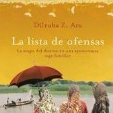 Libros: LA LISTA DE OFENSAS. Lote 211398776
