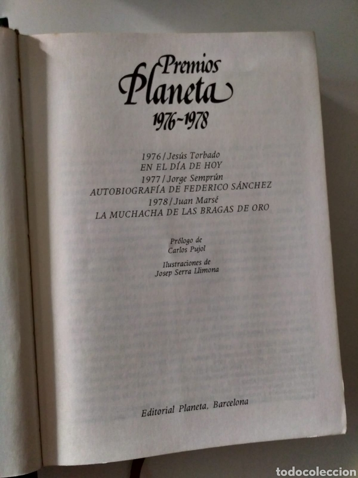 Libros: Premios Planeta 1976-1978 J. Torbado, J. Semprún, J. Marsé - Foto 4 - 211417290