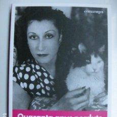 Libri: LIBRO - QUARANTA ANYS PERDUTS - ED. COMANEGRA - ROSA MARIA ARQUIMBAU - CATALAN - NUEVO. Lote 211574964