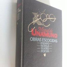 Libros: MIGUEL DE UNAMUNO OBRAS ESCOGIDAS CIRCULO LECTORES 1987. Lote 212892321