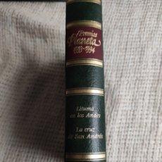 Livros: PREMIOS PLANETA 1993-1994: LITUMA EN LOS ANDES. LA CRUZ DE SAN ANDRÉS - VARGAS LLOSA, MARIO. CELA, C. Lote 218622181