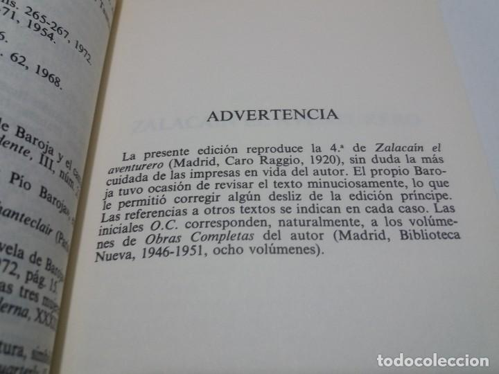 Libros: EMBLEMATICO ZALACAIN EL AVENTURERO PIO BAROJA - Foto 7 - 222081647