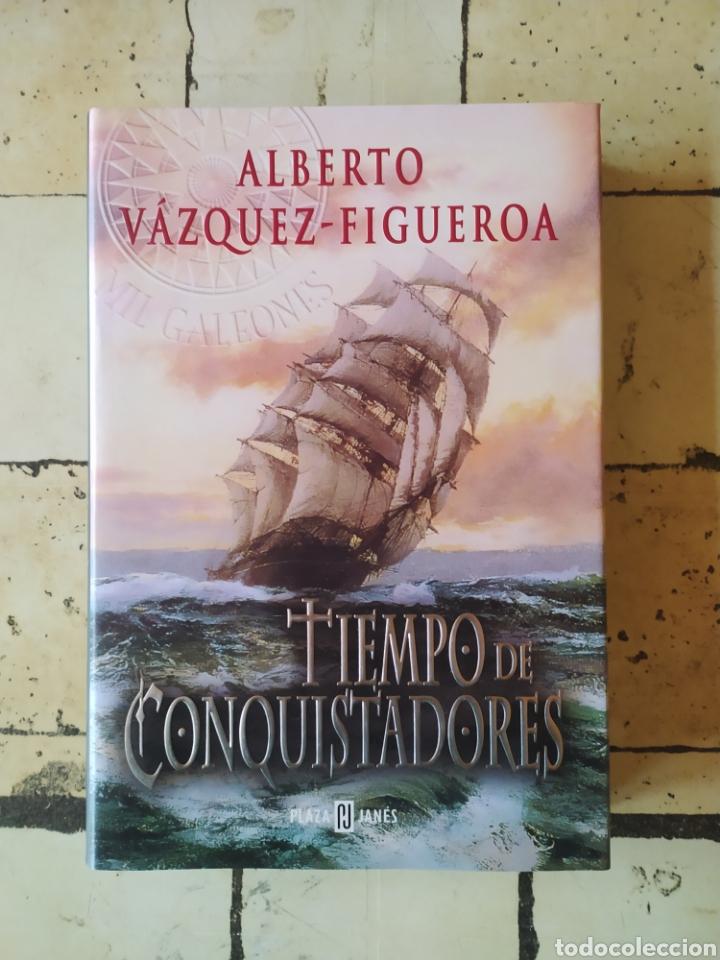 """""""TIEMPO DE CONQUISTADORES"""" ALBERTO VÁZQUEZ FIGUEROA. (Libros Nuevos - Narrativa - Literatura Española)"""