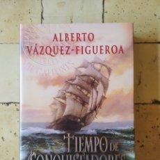 """Libros: """"TIEMPO DE CONQUISTADORES"""" ALBERTO VÁZQUEZ FIGUEROA.. Lote 224874218"""