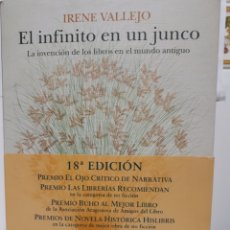 Livros: EL INFINITO EN UN JUNCO DE IRENE VALLEJO. Lote 232887060