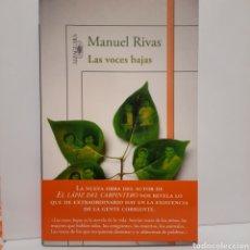 Libros: LAS VOCES BAJAS DE MANUEL RIVAS. Lote 237403355