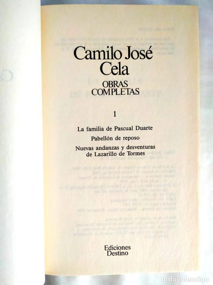 CELA: LA FAMILIA DE PASCUAL DUARTE Y OTRAS - TOMO 1 OBRAS COMPLETAS (Libros Nuevos - Narrativa - Literatura Española)