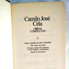 Libros: CELA: TOMO 2 DE LAS OBRAS COMPLETAS. Lote 240270995