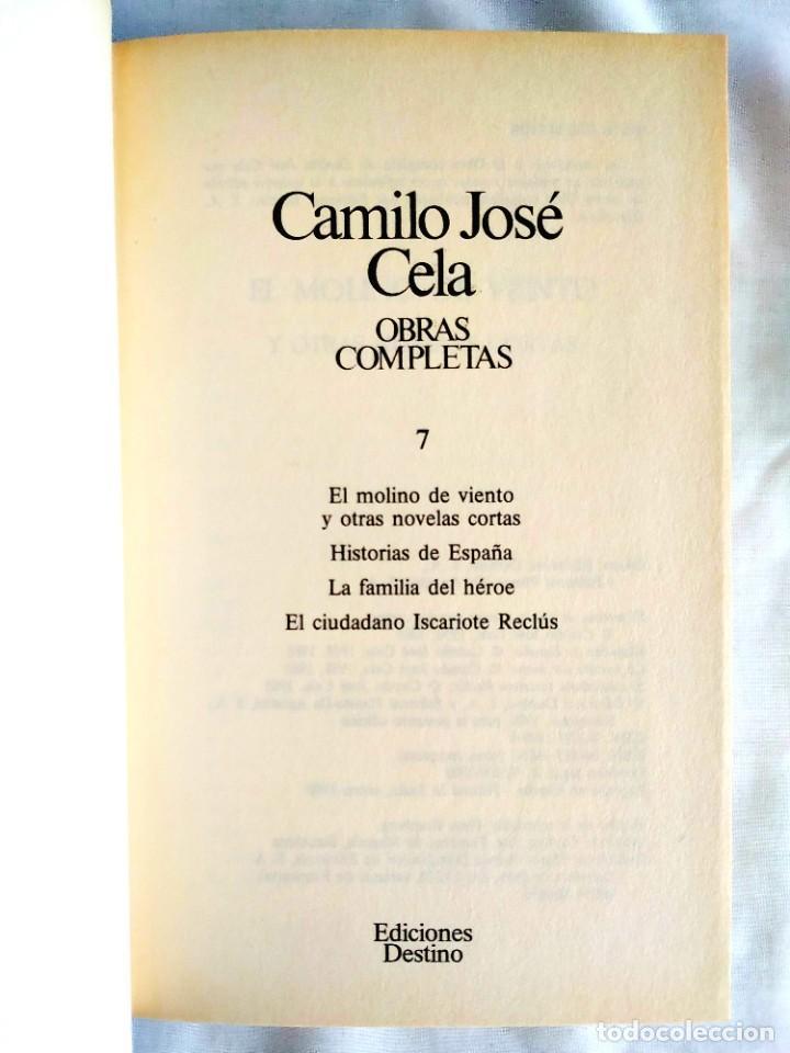 CELA: TOMO 7 DE OBRAS COMPLETAS (Libros Nuevos - Narrativa - Literatura Española)