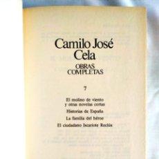 Libros: CELA: TOMO 7 DE OBRAS COMPLETAS. Lote 240274065
