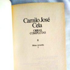 Libros: CELA: MESA REVUELTA - TOMO 8 DE LAS OBRAS COMPLETAS. Lote 240274420