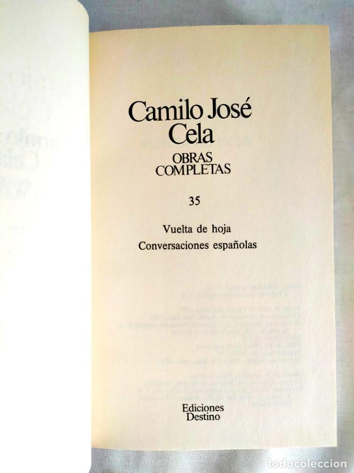 CELA: TOMO 35 DE LAS OBRAS COMPLETAS (Libros Nuevos - Narrativa - Literatura Española)