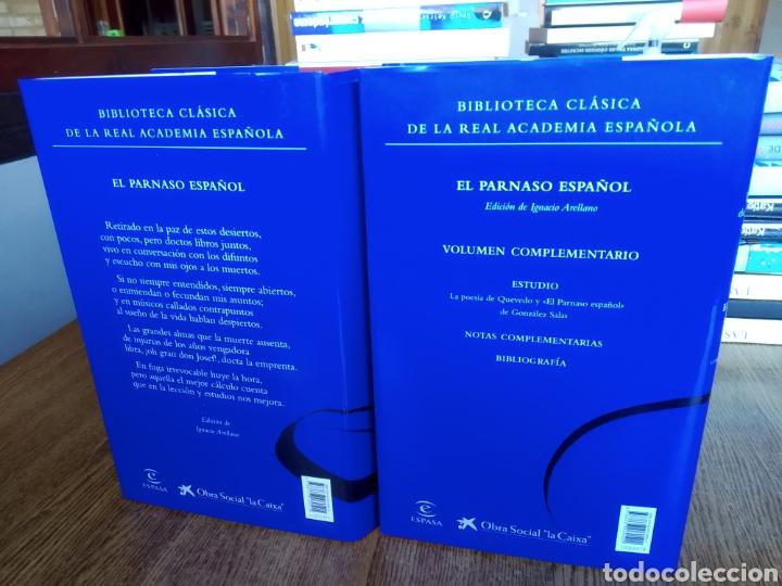 Libros: El parnaso español y volumen complementario. Francisco de Quevedo. 2020. RAE. González de salas. - Foto 3 - 246687440