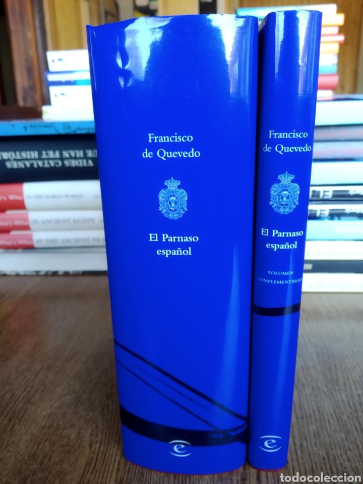 Libros: El parnaso español y volumen complementario. Francisco de Quevedo. 2020. RAE. González de salas. - Foto 4 - 246687440