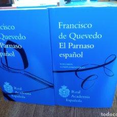 Libros: EL PARNASO ESPAÑOL Y VOLUMEN COMPLEMENTARIO. FRANCISCO DE QUEVEDO. 2020. R.A.E. GONZÁLEZ DE SALAS.. Lote 246687440