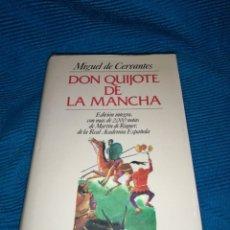 Livros: DON QUIJOTE DE LA MANCHA, MIGUEL DE CERVANTES, EDITORIAL JUVENTUD, MÁS DE 2000 NOTAS MARTÍN RIQUER. Lote 253910870
