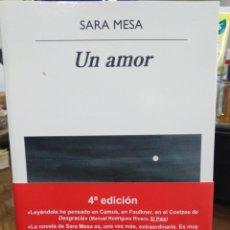 Livres: UN AMOR-SARA MESA-EDITA ANAGRAMA 2020. Lote 258259990