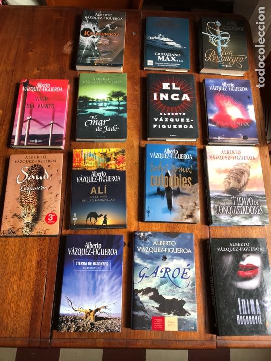 LOTE 14 LIBROS ALBERTO VAZQUEZ FIGUEROA (Libros Nuevos - Narrativa - Literatura Española)
