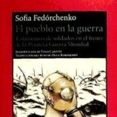 Libros: EL PUEBLO EN LA GUERRA. Lote 269089143