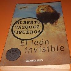 Libros: EL LEON INVISIBLE ALBERTO VAZQUEZ FIGUEROA. Lote 276073413