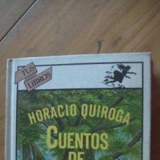 Libros: CUENTOS DE LA SELVA. APÉNDICE DE EMILIO PASCUAL. ILUSTRACIONES DE JOSÉ MARÍA LAGO. QUIROGA, HORACIO.. Lote 276708928