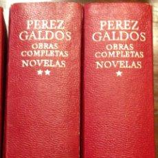 Libros: PÉREZ GALDOS. OBRAS COMPLETAS. TOMO I Y II, NOVELAS. AGUILAR. 1973.. Lote 276809128