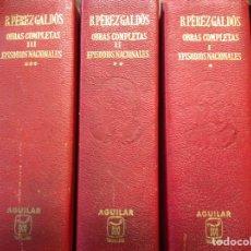 Libros: PÉREZ GALDOS. OBRAS COMPLETAS. EPISODIOS NACIONALES. AGUILAR. 1970. NUEVOS.. Lote 276817408