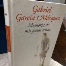 Libros: GABRIEL GARCÍA MÁRQUEZ MEMORIAS DE MIS PUTAS TRISTES. Lote 277116548