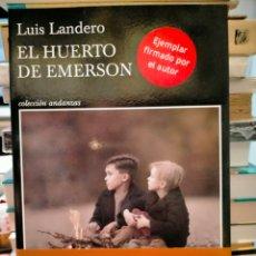 Libri: LUIS LANDERO .EL HUERTO DE EMERSON. TUSQUETS. Lote 252083555