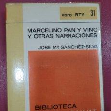 Libri: MARCELINO PAN Y VINO Y OTRAS NARRACIONES JOSÉ MARÍA SÁNCHEZ SILVA. Lote 290605288