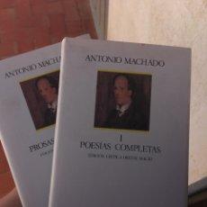 Libri: ANTONIO MACHADO: POESÍAS Y PROSAS COMPLETAS (2 VOLS). Lote 291225353