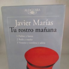 Libros: TU ROSTRO MAÑANA .TRILOGÍA ( FIEBRE Y LANZA ,BAILE Y SUEÑO Y VENENO Y SOMBRA Y ADIÓS)JAVIER MARÍAS. Lote 294066103
