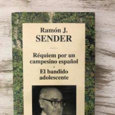 """Libros: LIBRO """"REQUIEM POR UN CAMPESINO ESPAÑOL/EL BANDIDO ADOLESCE"""" DE RAMON J. SENDER. Lote 294969663"""