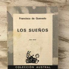 """Libros: LIBRO """"LOS SUEÑOS"""" DE FRANCISCO DE QUEVEDO. Lote 295536188"""