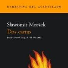 Libros: DOS CARTAS. Lote 296586333