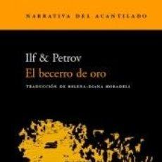 Libros: EL BECERRO DE ORO. Lote 296599308