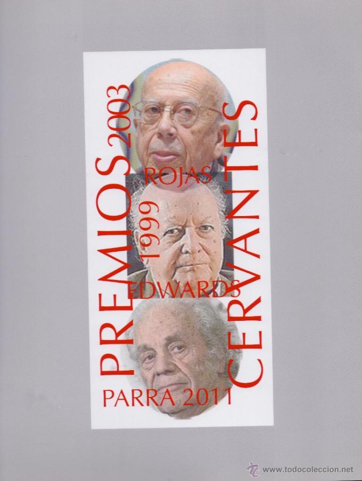 Libros: 3 CERVANTES CHILENOS. JORGE EDWARS, GONZALO ROJAS Y NICANOR PARRA. HOMENAJE PICTÓRICO 14 LÁMINAS - Foto 3 - 51697942