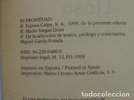 Libros: Una Historia No Oficial/ Mario Vargas Llosa/ Espasa Calpe/ 1999/ Narrativa s. XX - Foto 5 - 79825305