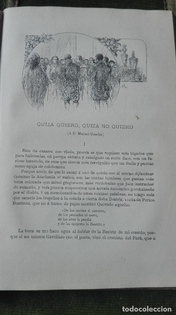 Libros: tradiciones peruanas.Ricardo Palma.1894. - Foto 5 - 100023063