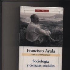 Libros: SOCIOLOGÍA Y CIENCIAS SOCIALES - OBRAS COMPLETAS IV. AYALA GARCÍA-DUARTE, FRANCISCO GALAXIA GUTENB. Lote 116580967