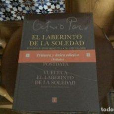 Libros: EL LABERINTO DE LA SOLEDAD DE OCTAVÍO PAZ. Lote 129282375