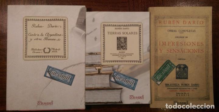 3 LIBROS FACSÍMILES DE PRIMERAS EDICIONES DE RUBÉN DARÍO (1904, 1914 & 1925). POESÍA Y PROSA (Libros Nuevos - Narrativa - Literatura Hispanoamericana)