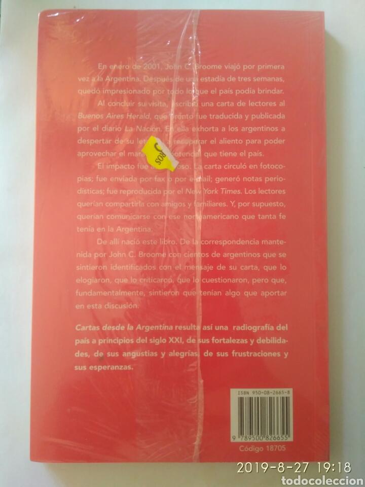 Libros: CARTAS DESDE LA ARGENTINA JOHN C.BROOME CON LA GENTE DE LA ARGENTINA. NUEVO PRECINTADO - Foto 2 - 174977282
