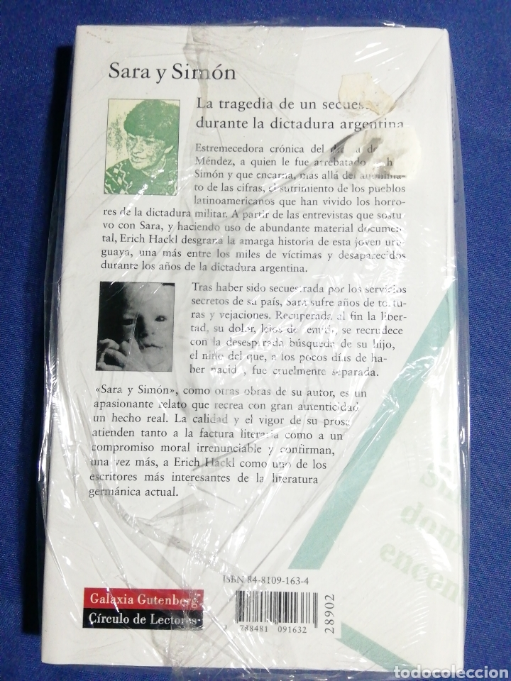 Libros: SARA Y SIMÓN UNA HISTORIA SIN FIN. ERICH HACKL. NUEVO - Foto 2 - 179089523