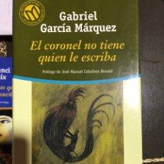 Libros: EL CORONEL NO TIENE QUIÉN LE ESCRIBA. GABRIEL GARCÍA MÁRQUEZ. Lote 182704901