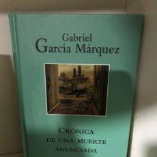 Libros: CRÓNICA DE UNA MUERTE ANUNCIADA GARCÍA MÁRQUEZ. Lote 183694970